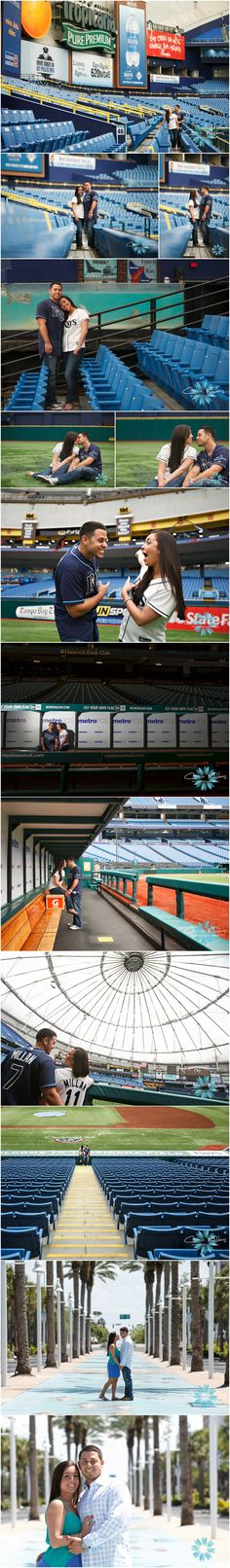 #baseball stadium #engagement  #raysbaseball #tropicanafield