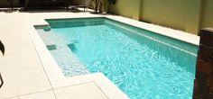 Sand colour fibreglass pool