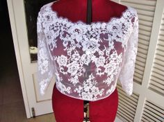 Rose Garden bridal lace top finest quality Art lace by angelikaliv, $269.90