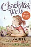 Charlotte's Web, by E. B. White.  Wilbur the pig meets a spider, Charlotte, who helps little Wilbur by making him famous and by that she saves his life.