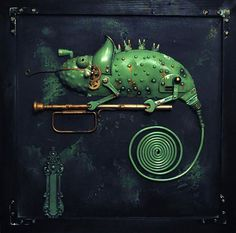 Steampunk and Assemblages from various metal parts by Lithuanian artist Arturas Tamasauskas