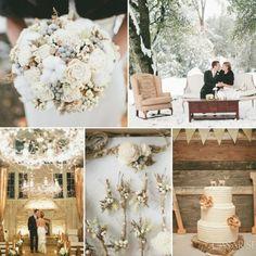 Decoració hivernal pel casament.   http://www.casarseacatalunya.cat/decoracio-hivernal-per-al-casament/