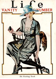 "Coles Phillips - Life Magazine cover (September 29, 1921) ""The Finishing Touch"""