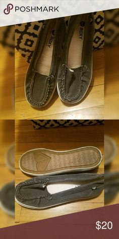 Roxy Slip on Shoes Adorable and super comfy slip on Roxy shoes, only worn a few times. Would look great with any casual outfit. Roxy Shoes Flats & Loafers