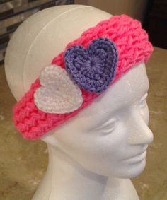 Girls Baby Infant Knitted Headband With by JilleBeansCreations