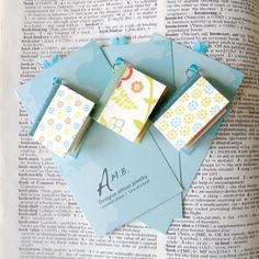 Miniature Recycled Book Pendant Charms Set of 3  by AmbJewelry, $18.00