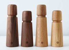 Essential Kitchen Tools - Salt And Pepper Mills | These minimal wooden grinders come in two kinds of wood and bring in a natural touch to your kitchen.