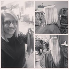 Thank you Casey Redman for the wonderful change to my hair today!! I LOVE it and feel so blessed we can donate it too!!