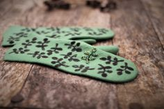 Felted green mittens merino wool gloves green leaves black decor embroidered mittens like cashmere mittens winter gloves arm warmers by AureliaFeltStudio on Etsy