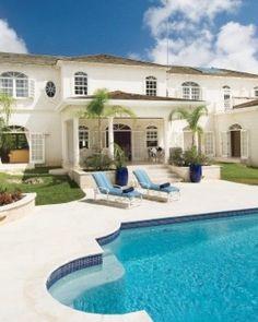 Saramanda  ( Barbados )  Guests at Saramanda, in the Sandy Lane Estates, have access to Sandy Lane Hotel's amenities. #Jetsetter