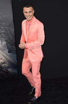 And it looks like Colton KNOWS he�s totally rocking his look. The only question is�does his underwear match the rest of his outfit? | Colton Haynes Totally Rocked A Pink Suit At His Movie Premiere