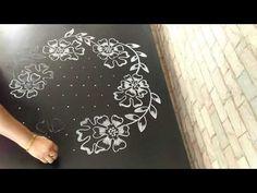 in less dots. more and more navatatri special rang. Rangoli Designs Latest, Latest Rangoli, Rangoli Designs With Dots, Rangoli With Dots, Beautiful Rangoli Designs, Kolam Designs, Simple Rangoli, Flower Rangoli, Flower Mandala