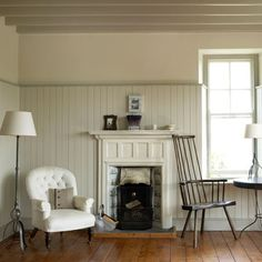 Armchair by Fireplace: Fireplace Decorating Ideas
