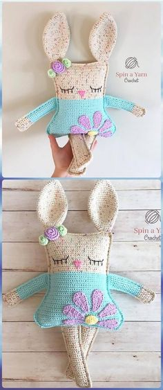 Crochet Ragdoll Spring Bunny Free Pattern- Crochet Amigurumi Bunny Toy Free Patterns by DeeDeeBean