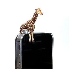 Giraffe Phone Jack Charm