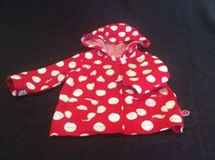 Sprout Baby Girl Jacket Red And White Size 00