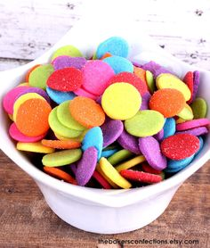 Jumbo Rainbow Polka Dot Sprinkles  by thebakersconfections on Etsy, $5.50