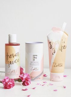 Zoella Beauty Jelly and Gelato (Pint Sized Beauty) - Gelee Ideen Youtuber Merch, Youtubers, Best Foundation Brush, Zoella Beauty, Scar Removal Cream, Body Shop At Home, Skincare Packaging, Skin Food, Body Wash