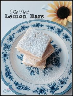 A Day In Candiland | The Best Lemon Bars, so lemony and contains a shortbread crust, that is buttery and flaky. These are great easy desserts that you can bring you your next party or event.