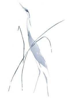 Heron In Grass – Limited Edition Print