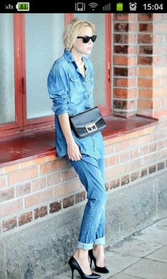 Denim on denim fun! Simple chic