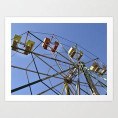 Ferris Wheel Art Print by Yarapoctli - $14.60