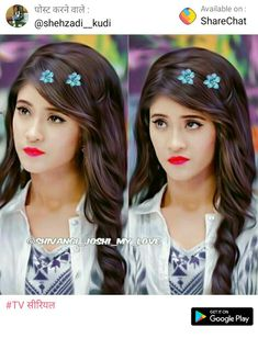 Cute Girl Pic, Cute Girls, Girly Hairstyles, Kaira Yrkkh, Blue Lehenga, Cute Attitude Quotes, Pakistani Actress, Stylish Hair, S Pic
