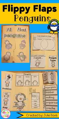 Are your students crazy about these adorable penguins like mine are?! Get your students excited to learn all about this special animal! They will explore all about Penguins in this fun, hands-on, interactive Lapbook! Your students will be engaged and learn about Penguins and more in many different ways!  What activities are included: ☆ Penguins can/have/are ☆ Label a Penguin ☆ All About Penguins ☆ Penguin KWL ☆ Penguin Vocabulary ☆ Penguin Facts ☆ Life Cycle of a Penguin ☆ Penguin Adjectives