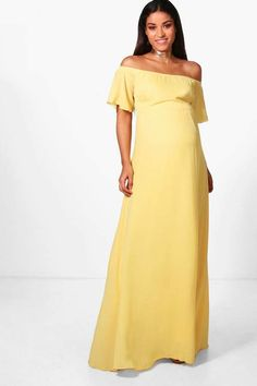 ade5c5d5bf8 Maternity Clare Off The Shoulder Maxi Dress  ad  maternitydress Boohoo  Maternity