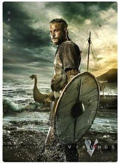 Travis Fimmel as Ragnar, Vikings.