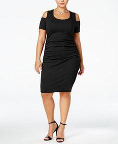Jessica Simpson Trendy Plus Size Mara Cold-Shoulder Dress | macys.com
