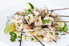 Grilled Calamari Recipe | Steamy Kitchen Recipes