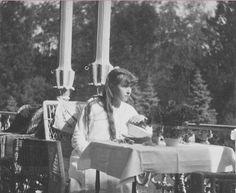 Anastasia on the balcony of the Alexander Palace, 1915