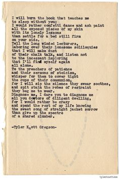 Typewriter Series #769 by Tyler Knott Gregson