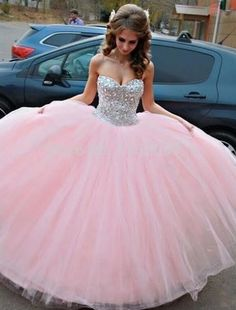 Discount Absorbing Pink Wedding Dresses, Vestido De Debutante Pink Ball Gown Wedding Dress Sweet Quinceanera Dresses With Crystals Quince Dresses, Pink Prom Dresses, Sweet 16 Dresses, Tulle Prom Dress, Pretty Dresses, Homecoming Dresses, Beautiful Dresses, Wedding Dresses, Gown Wedding