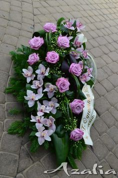 Funeral Bouquet, Funeral Flowers, Black Flowers, Fresh Flowers, Grave Flowers, Casket Sprays, Ikebana, Flower Arrangements, Watercolor Paintings