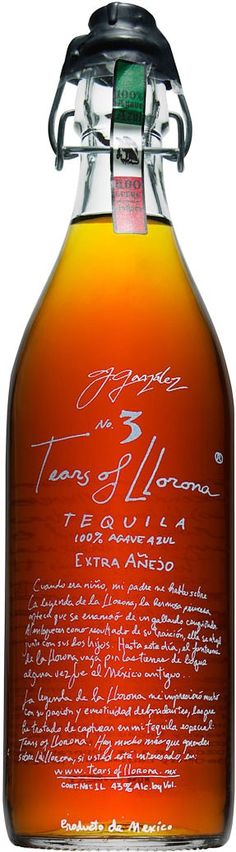 "This extra añejo tequila, which was called, ""a sipping tequila of the highest order,"" was aged in a combination of former Scotch, Sherry and Cognac casks for nearly five years. Wine And Liquor, Wine And Beer, Cocktails, Drinks, Sipping Tequila, Tequila Recipe, Tequila Bottles, In Vino Veritas, Scotch Whisky"