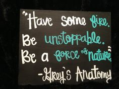 Grey's Anatomy Canvas Quote by changriffin22 on Etsy, $10.00