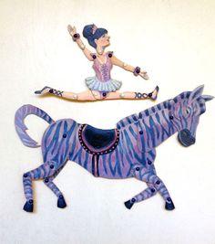 DIY Circus Zebra & Cute Ballerina Printable PDF Paper Puppet Doll Set for Paper Play, Kids Party, Fun
