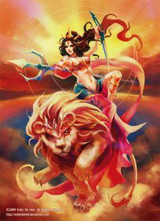 Durga by EnferDeHell.deviantart.com on @deviantART