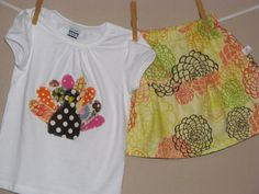 Thanksgiving Shirt  Baby Toddler Girls  Short and by LilLaineyBug, $19.00