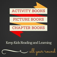 Activity books, picture books, and chapter books that will keep your kids…