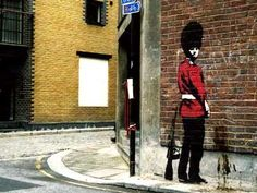 Banksy: Hey, when you gotta go, you gotta go...