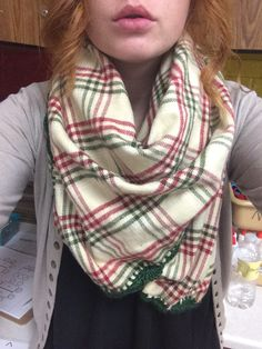 I have been making blanket scarves. Christmas presents everyone will love!