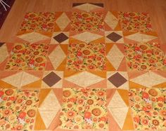 Sunflowers by dresdenquilter - thought : use a storm at sea pattern to show off Morris fabrics