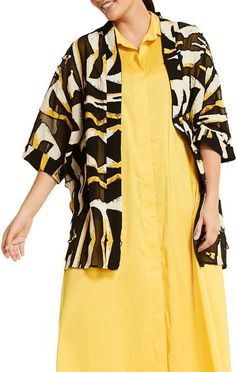 Shop a great selection of Marina Rinaldi Figurato Open Front Jacket (Plus Size). Find new offer and Similar products for Marina Rinaldi Figurato Open Front Jacket (Plus Size). Nordstrom Jackets, Coats For Women, Clothes For Women, Printed Jumpsuit, Front Tie Top, Striped Linen, Jacket Style, Plus Size Women, Marina Rinaldi