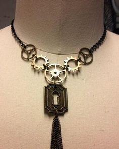 Simple Elegant Key hole  steam punk necklace by prevailingatrocity, $25.50