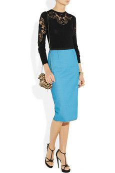 Valentino Sweater, Roland Mouret skirt, perfect combo