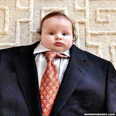 #BabySuiting.  It's happening! Stick your Baby in a Suit. More pictures on MommyShorts.com