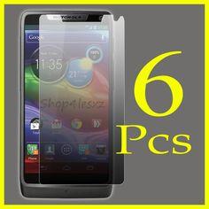 6 Packs for Motorola DROID RAZR M XT907 Clear LCD Screen Protector